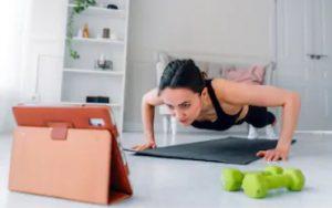 Fitness-Programm im Internet